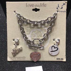 NEW Love this Life, Charm Bracelet, Retails $50